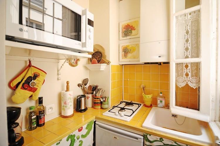 Kitchen window opened